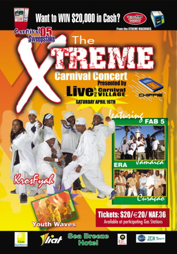 xtreme concert poster